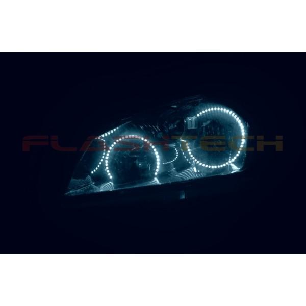 Flashtech white led headlight halo kit for nissan altima - 2006 nissan altima interior led lights ...