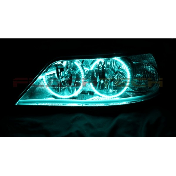 lincoln town car v 3 fusion color change led halo headlight kit 2005 2011. Black Bedroom Furniture Sets. Home Design Ideas