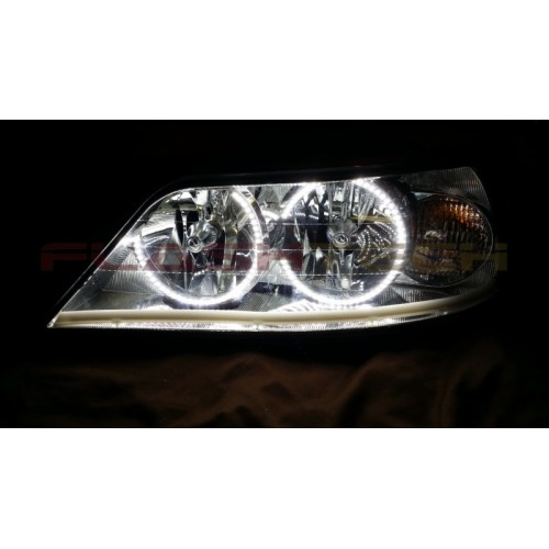 lincoln town car white led halo headlight kit 2005 2011. Black Bedroom Furniture Sets. Home Design Ideas