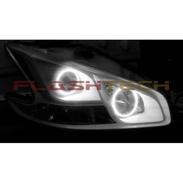 Flashtech White Led Headlight Halo Kit For Nissan Maxima