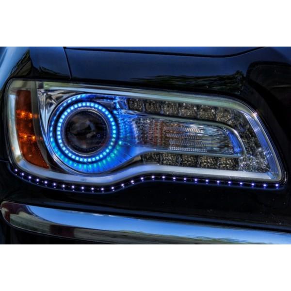 chrysler 300 v 3 fusion color change led halo headlight. Black Bedroom Furniture Sets. Home Design Ideas