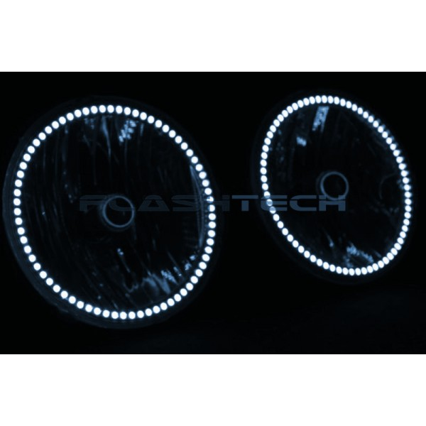 jeep wrangler white led halo headlight kit 2007 2015 wrangler. Cars Review. Best American Auto & Cars Review