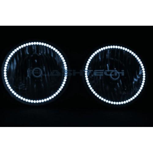hummer h3 white led halo headlight kit  2005