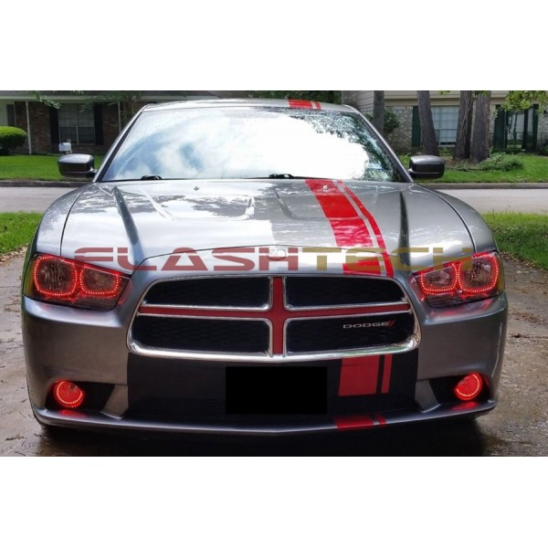 Dodge Charger V 3 Fusion Color Change Led Halo Headlight