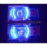 Chevrolet Silverado V.3  Fusion Color Change halo projector  headlight kit (2014-2015)