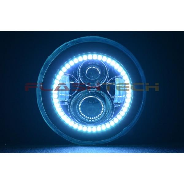 how to change round fluoro to round led