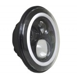"Flashtech 7045 7""  LED Headlight Assemblies: 7"" Round with white LED halos Installed"