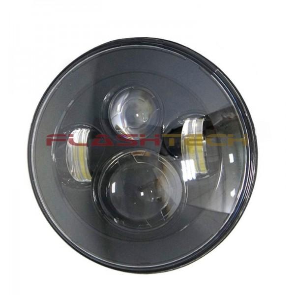 Flashtech 7045 Led Headlight Assemblies 7 Quot Round Black