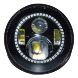 """Flashtech 7045 7""""  LED Headlight Assemblies: 7"""" Round with Fusion V.3 Color Changing halos Installed"""