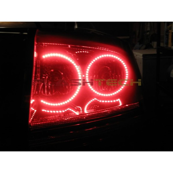dodge charger white led halo tail light kit 2005 2007. Black Bedroom Furniture Sets. Home Design Ideas
