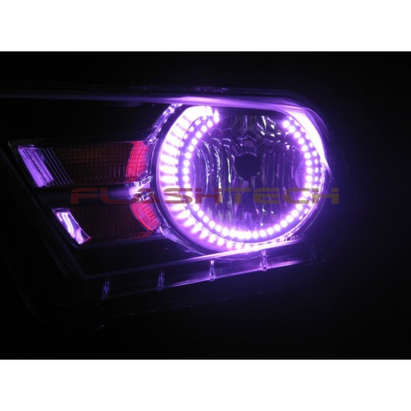 flashtech ford mustang v3 fusion color change led halo headlight kit 2010 - Mustang 2014 Purple
