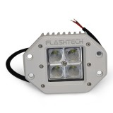 Flashtech LED Fog Light: 4 LED Flush Mount White