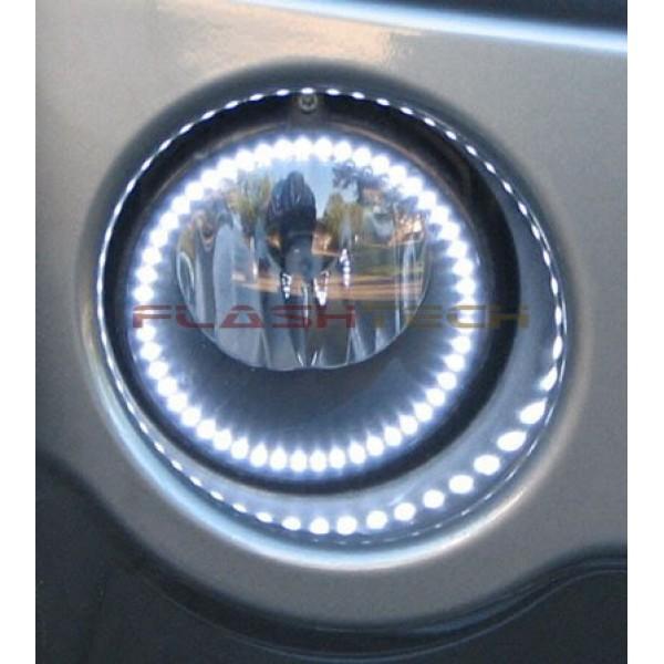 Dodge Charger White Led Halo Fog Light Kit 2011 2014