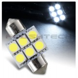 Flashtech 31mm 6 SMD Led Bulb - White