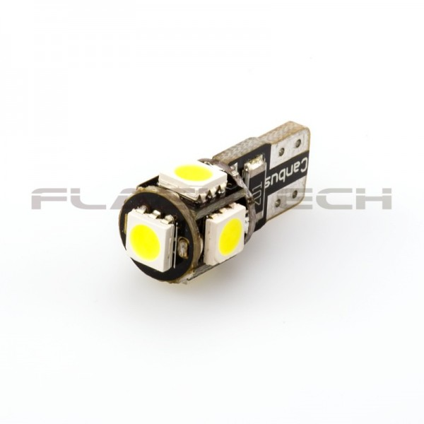 flashtech t10 5 smd canbus led bulb white. Black Bedroom Furniture Sets. Home Design Ideas