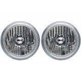 "5 3/4"" Round  Headlight Assemblies with Fusion V.3 Color Changing Halos Installed (Pair)"