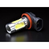 Flashtech 7.5W High Power LED fog light bulbs: H11 H8 H9 bulb size