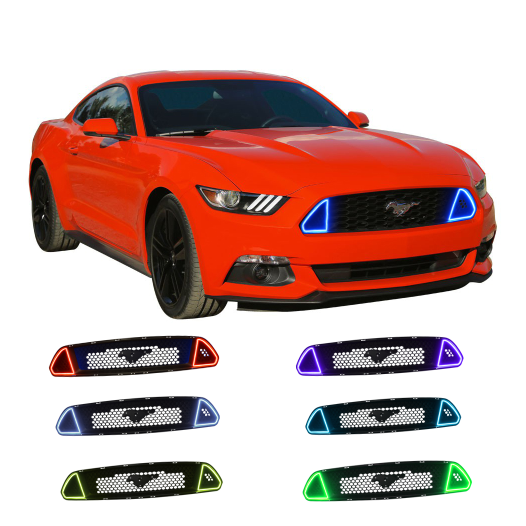 ford mustang gt colorfuse drl color change grille led. Black Bedroom Furniture Sets. Home Design Ideas