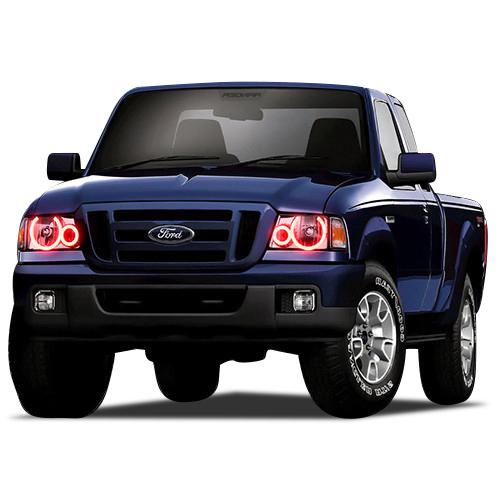43c7d8995c581 RGB Multi-Color LED Halo Ring Headlight Kit for Ford Ranger 01-11 IR ...